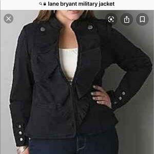 Lane Bryant 16/18 Fitted Stretch Military Jacket